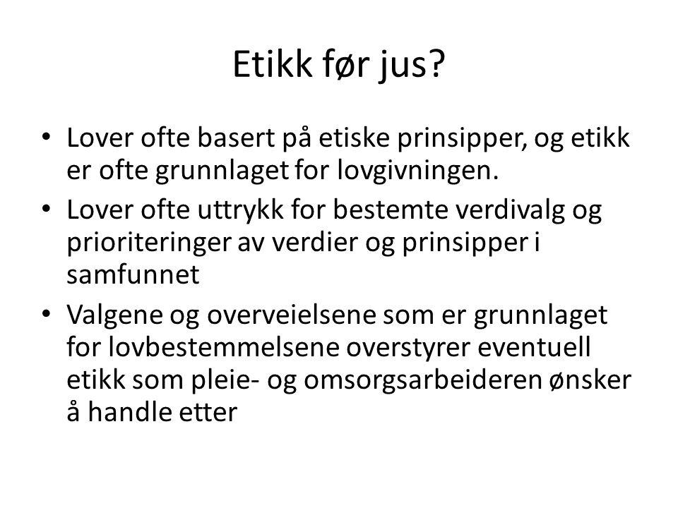 Etikk før jus.