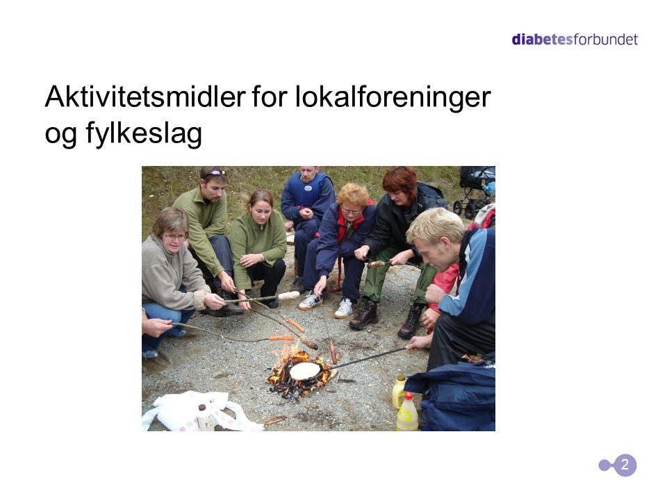 Midler tildeles av Diabetesforbundet Skal gå til aktiviteter i tråd med handlingsplanen Lyses ut i begynnelsen av desember Søknadsfrist er 15.