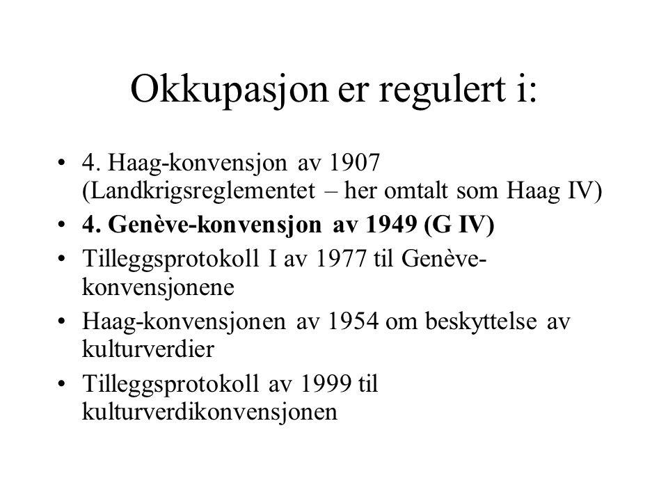 Okkupasjon er regulert i: 4.