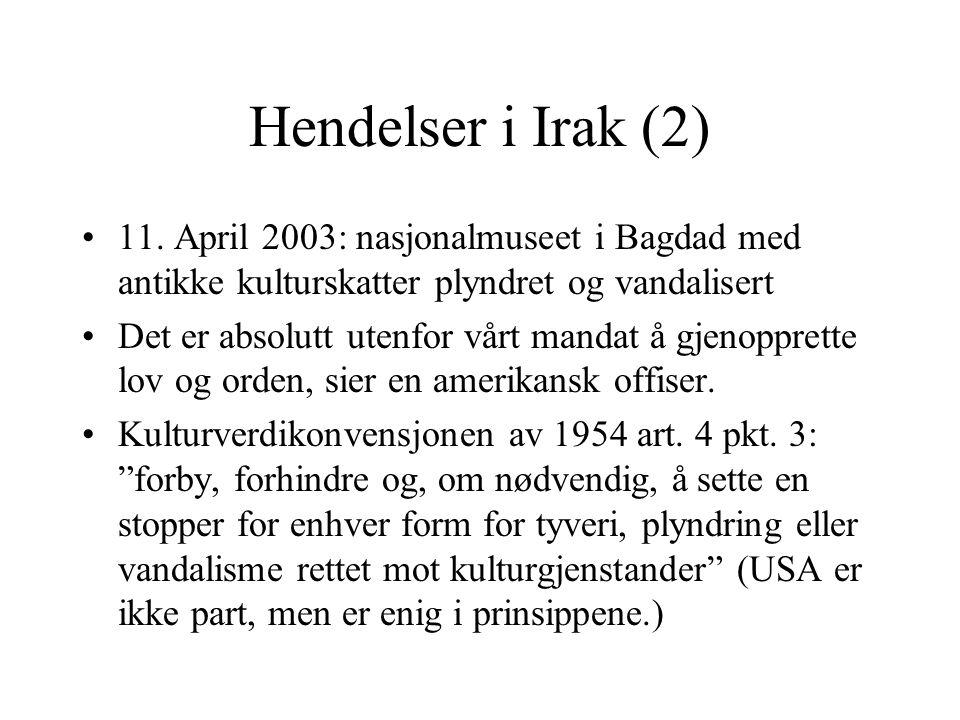 Hendelser i Irak (2) 11.
