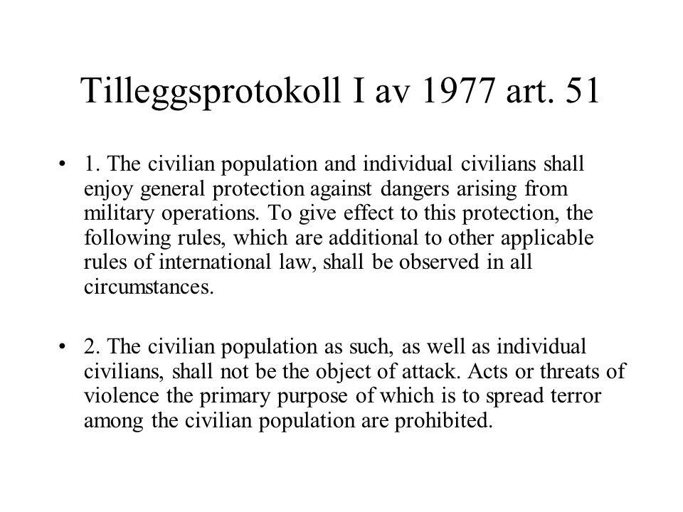 Hvem er sivil – TP I art.50 1.