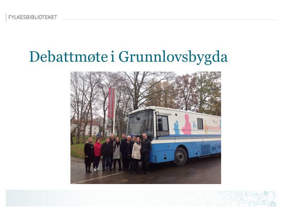 Debattmøte i Grunnlovsbygda