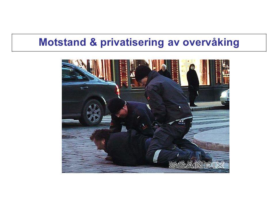 Motstand & privatisering av overvåking