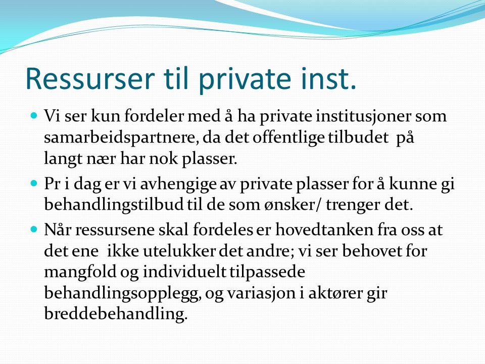 Ressurser til private inst.