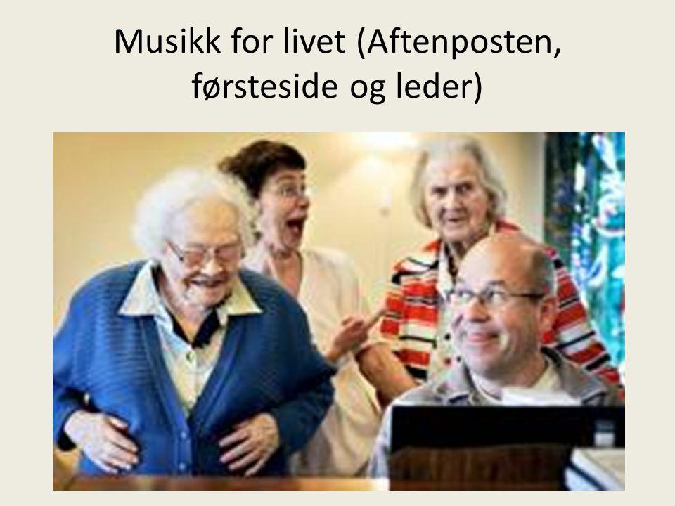 Litteratur www.livshjelp.no www.tidsskriftet.no www.kulturforbundet.no Den musiske medisin Den siste song Metodebok PreferanseCD
