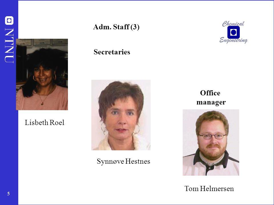 6 Technical staff (7) Berit Borthen avd.ing.- treforedling Harry Bruning.