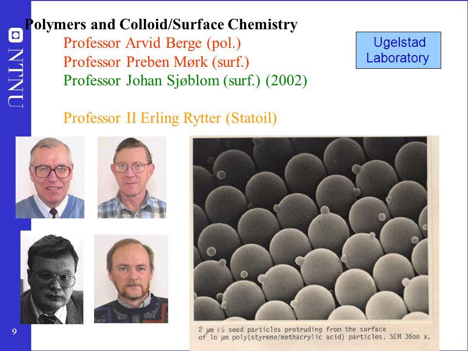 10 Process systems engineering (PROST) Professor Terje Hertzberg (mod.,stat.) Professor Sigurd Skogestad (reg.) Førsteam.