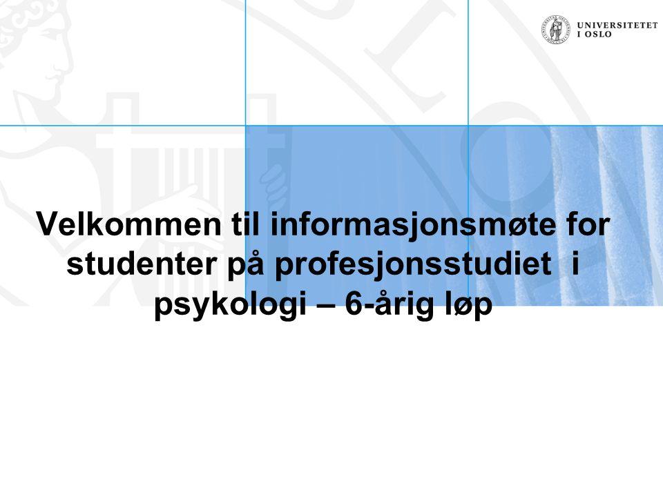 Emner dette semesteret: EXPHIL03 PSYC1200 – Innføring i generell psykologi og psykologiens historie