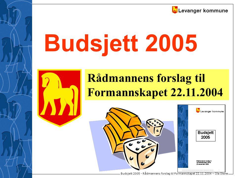 Levanger kommune Budsjett 2005 - Rådmannens forslag til Formannskapet 22.11.2004 – Ola Stene Budsjett 2005 Rådmannens forslag til Formannskapet 22.11.