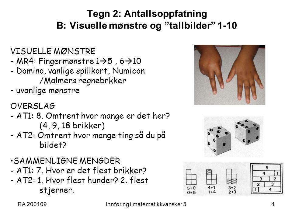 RA 200109Innføring i matematikkvansker 315 En for ensidig algoritmetrening.