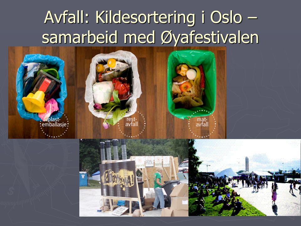 Avfall: Kildesortering i Oslo – samarbeid med Øyafestivalen