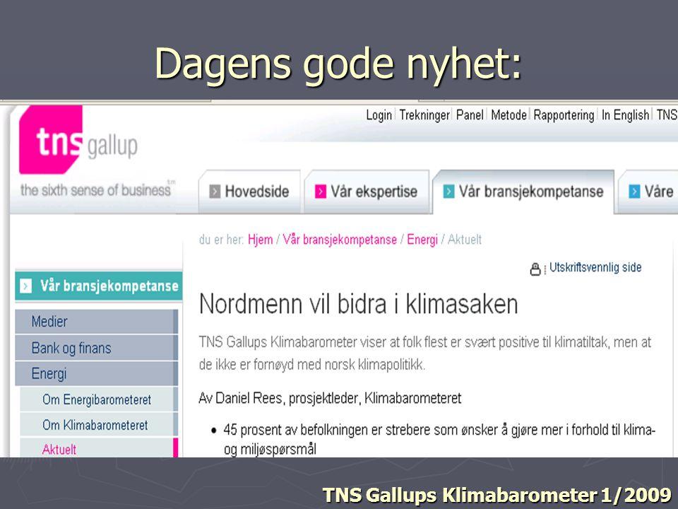 Dagens gode nyhet: TNS Gallups Klimabarometer 1/2009