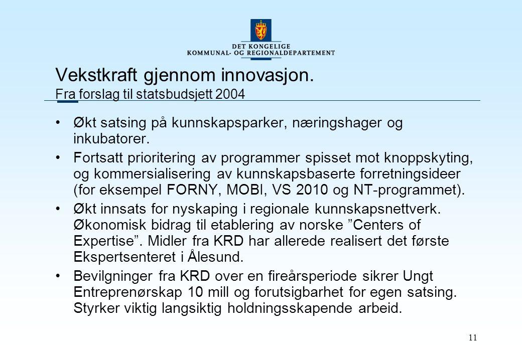 11 Vekstkraft gjennom innovasjon.