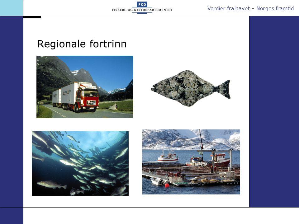 Verdier fra havet – Norges framtid Regionale fortrinn