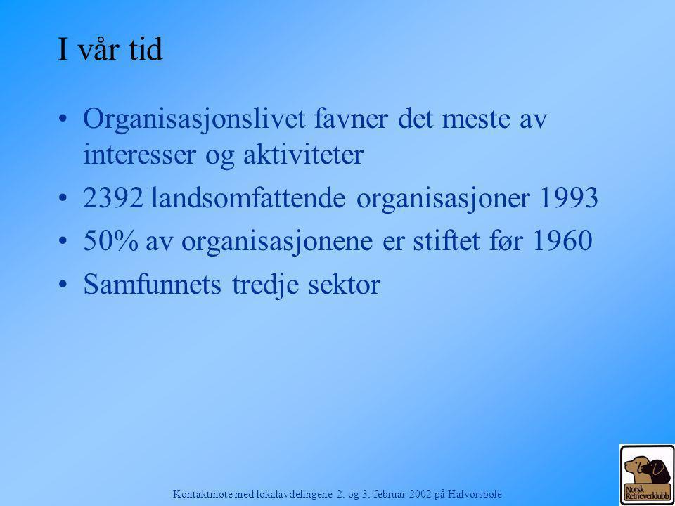 Kontaktmøte med lokalavdelingene 2.og 3. februar 2002 på Halvorsbøle Kapittel 4.
