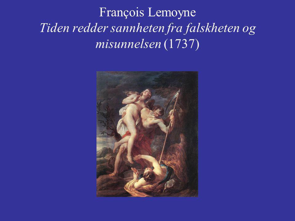 François Lemoyne Tiden redder sannheten fra falskheten og misunnelsen (1737)