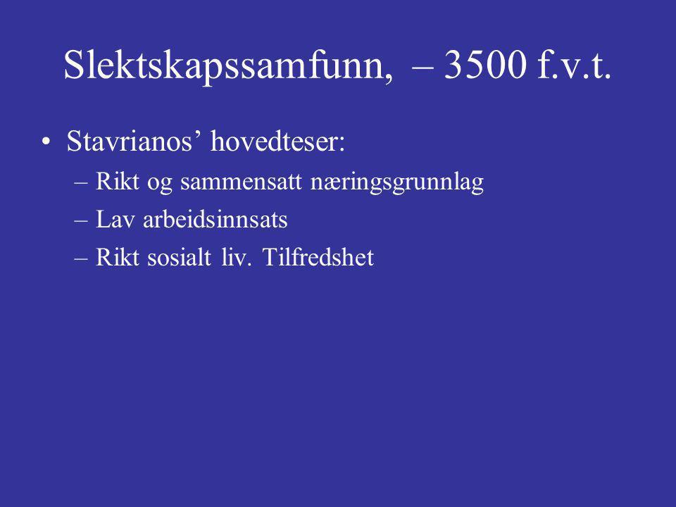 Slektskapssamfunn, – 3500 f.v.t.