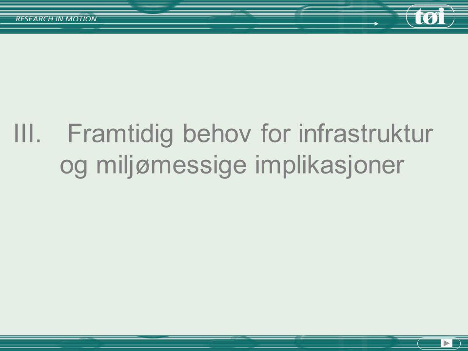 III. Framtidig behov for infrastruktur og miljømessige implikasjoner