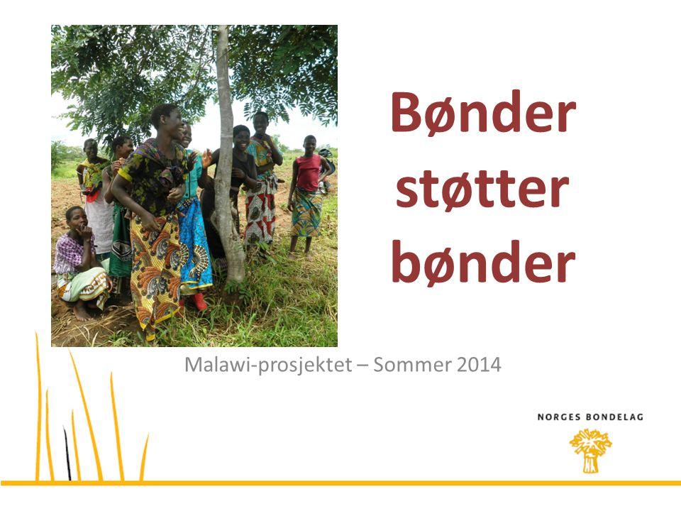 Bønder støtter bønder Malawi-prosjektet – Sommer 2014