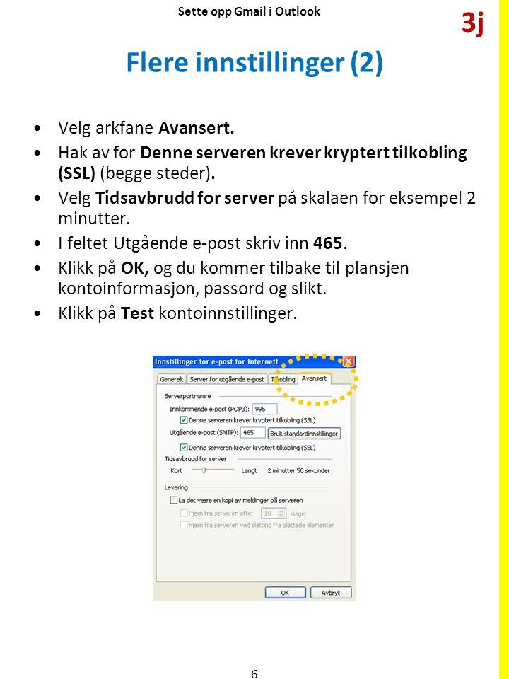 Teste Klikk på Test kontoinnstillinger.