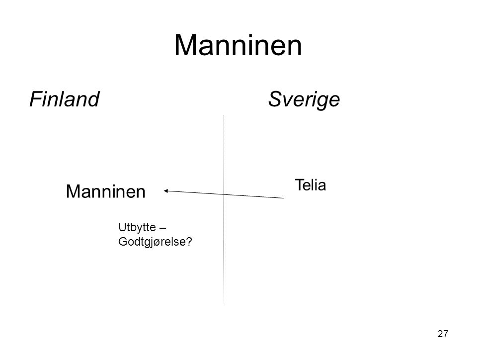 27 Manninen FinlandSverige Manninen Telia Utbytte – Godtgjørelse?
