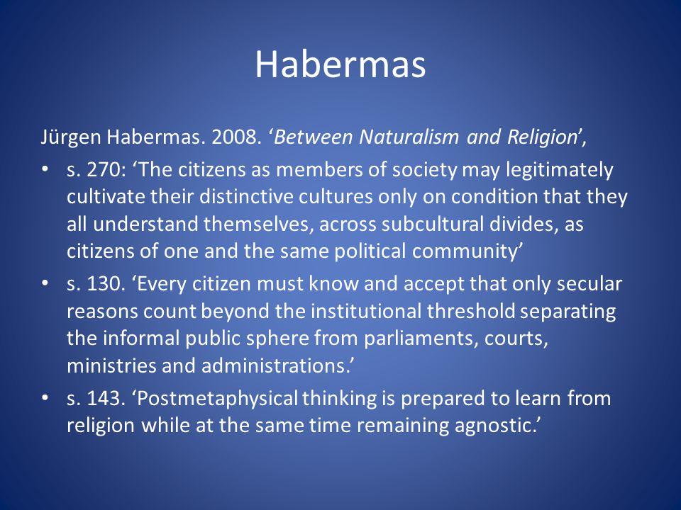 Habermas Jürgen Habermas.2008. 'Between Naturalism and Religion', s.