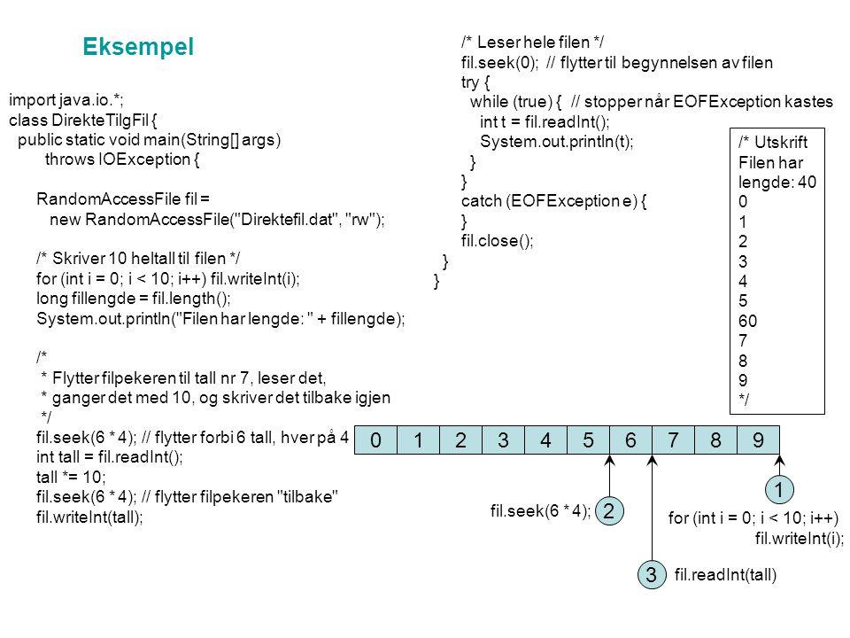 Hvordan lagre et objekt på fil.Hvordan lagrer vi et objekt av klassen Register på fil.