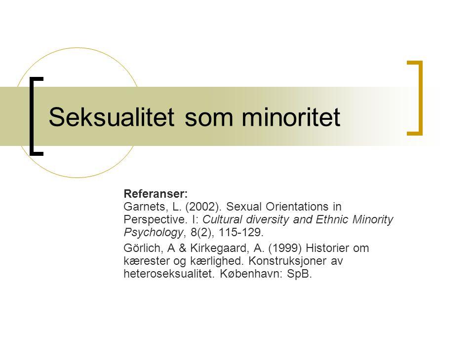 Binære opposisjoner mann/kvinne hetero/homo Rasjonell/emosjonell Svart/hvit