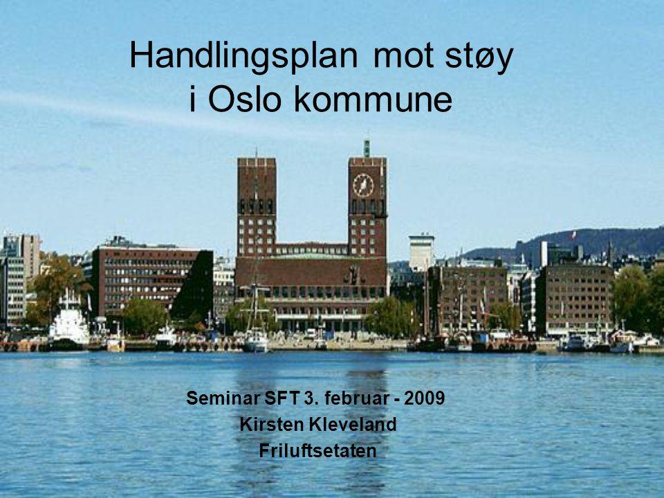 Handlingsplan mot støy i Oslo kommune Seminar SFT 3. februar - 2009 Kirsten Kleveland Friluftsetaten