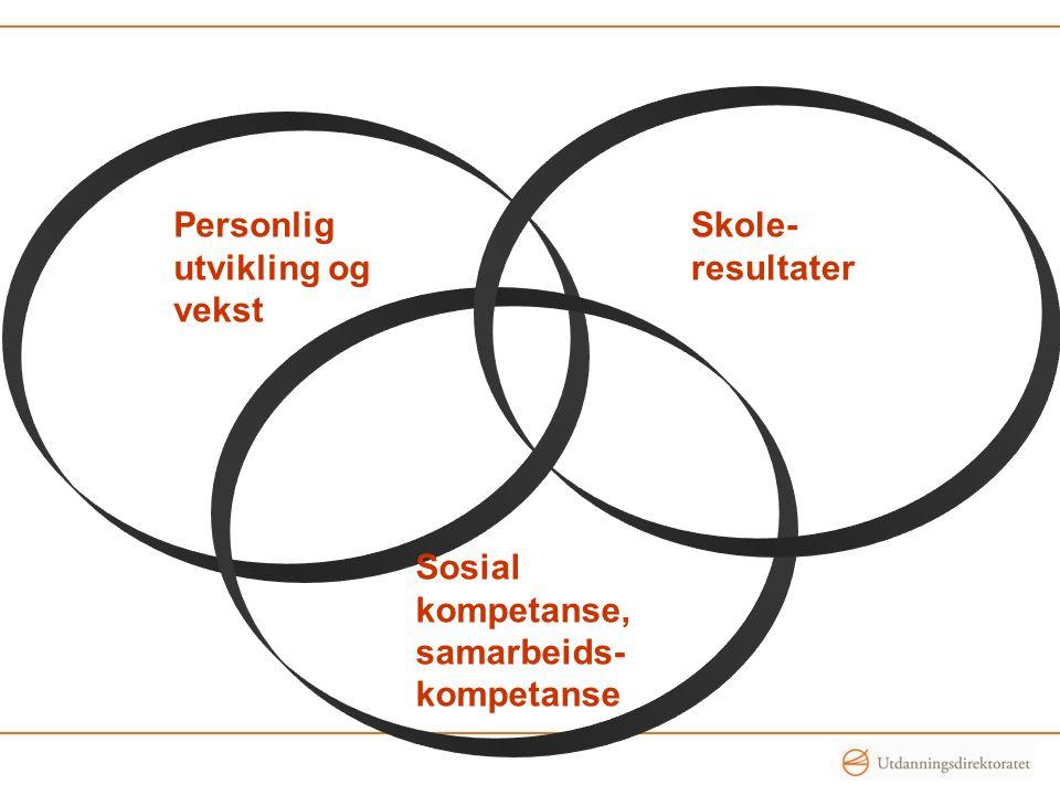 Personlig utvikling og vekst Skole- resultater Sosial kompetanse, samarbeids- kompetanse