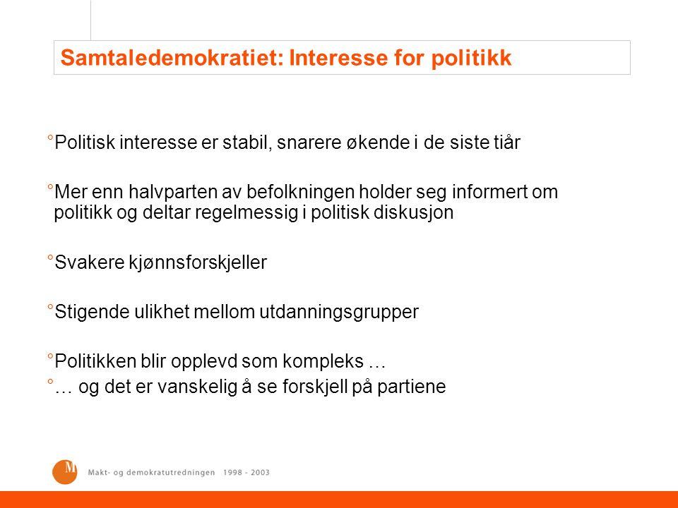 Medborgernes innflytelse i Danmark Økt globalisering svekker ikke velferdsstaten… ….