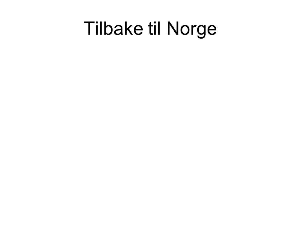 Tilbake til Norge