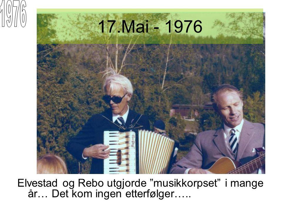 """Elvestad og Rebo utgjorde """"musikkorpset"""" i mange år… Det kom ingen etterfølger….."""