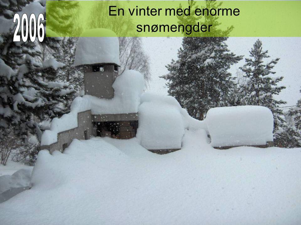 En vinter med enorme snømengder