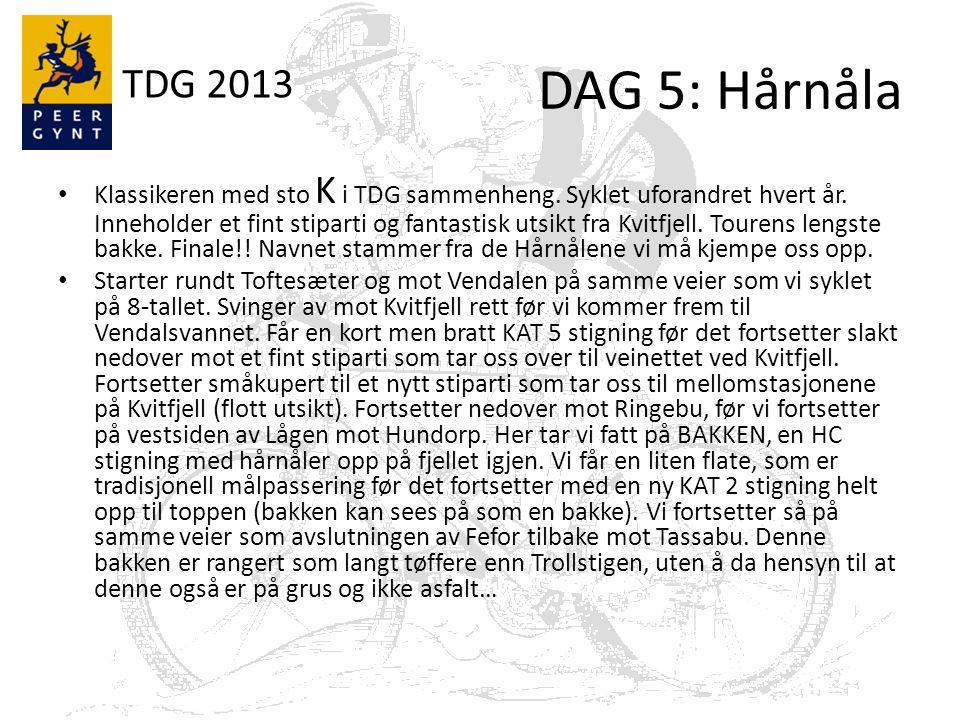 TDG 2013 DAG 5: Hårnåla Klassikeren med sto K i TDG sammenheng.