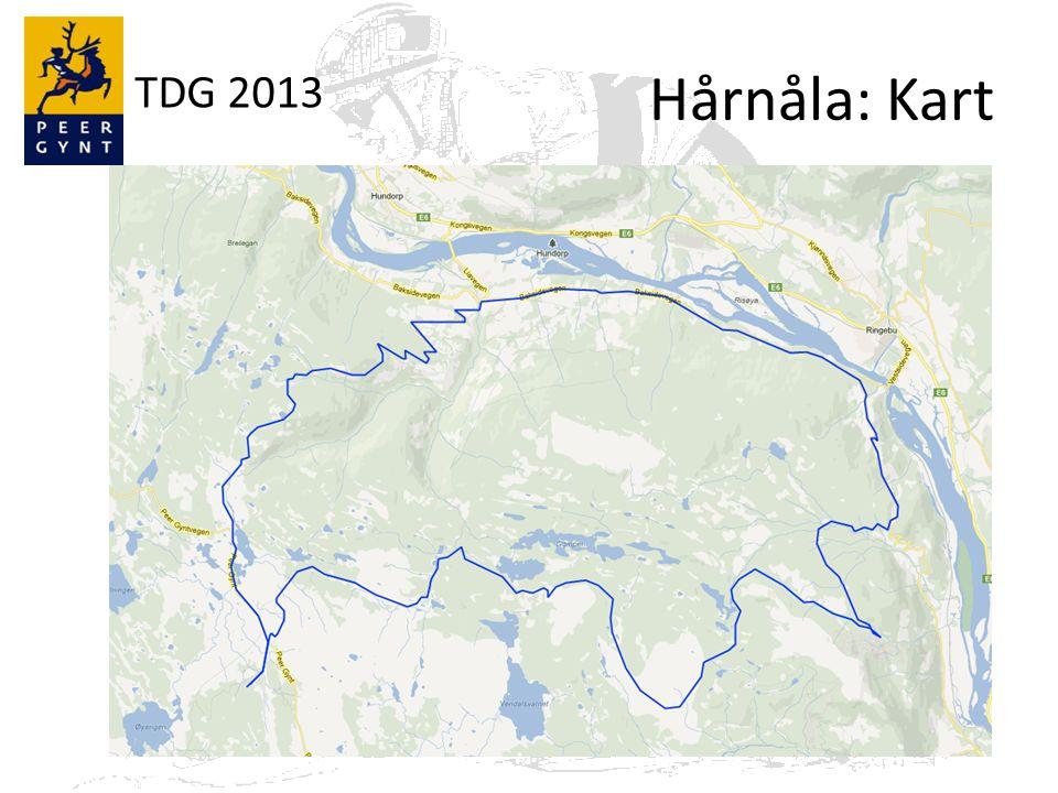 TDG 2013 Hårnåla: Kart