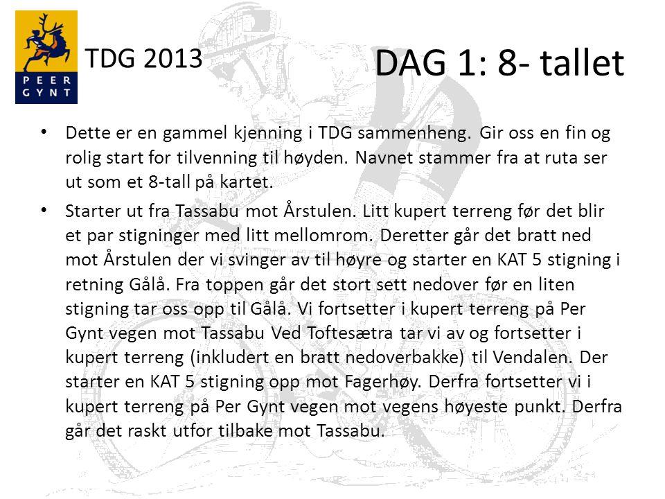 TDG 2013 8-tallet: Data Bakker AsfaltGrusStiNyttlengdehm 049,100 641 fra [km]til [km]Dist [km]typeKAThm% 11,312,10,8g5577,125 37403g51103,666667
