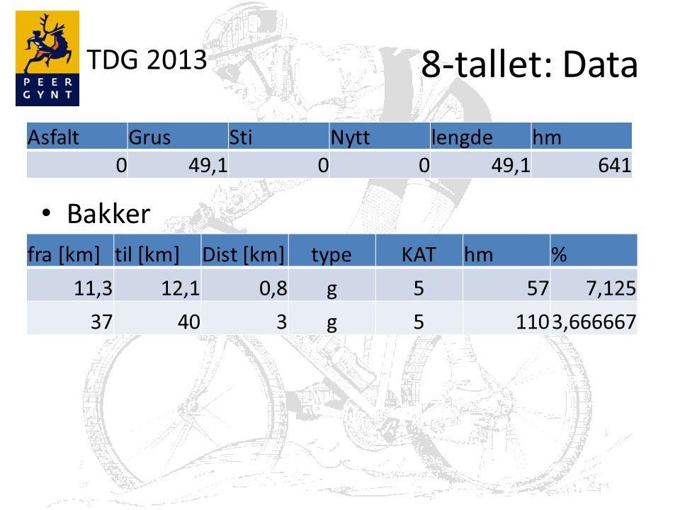 TDG 2013 8-tallet: Kart