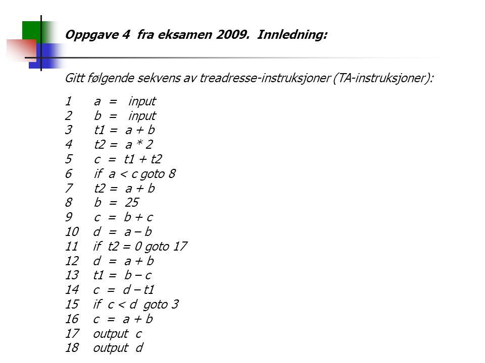 Oppgave 4 fra eksamen 2009.