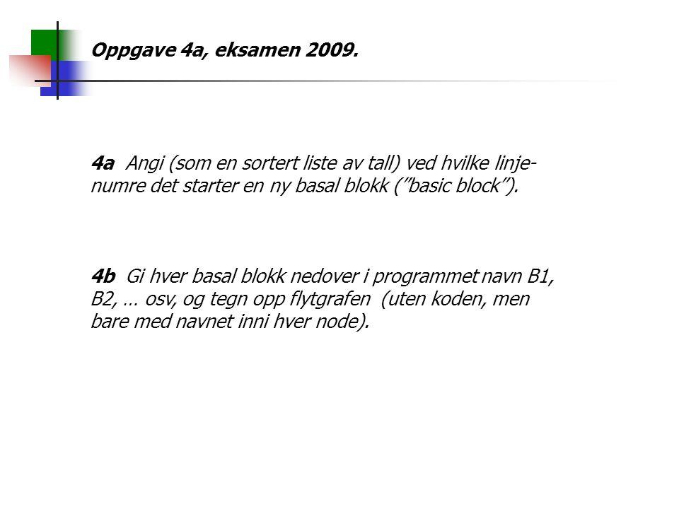 Oppgave 4a, eksamen 2009.