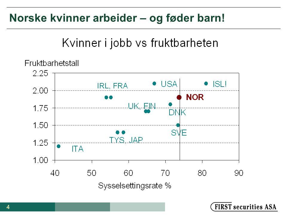 4 Norske kvinner arbeider – og føder barn!