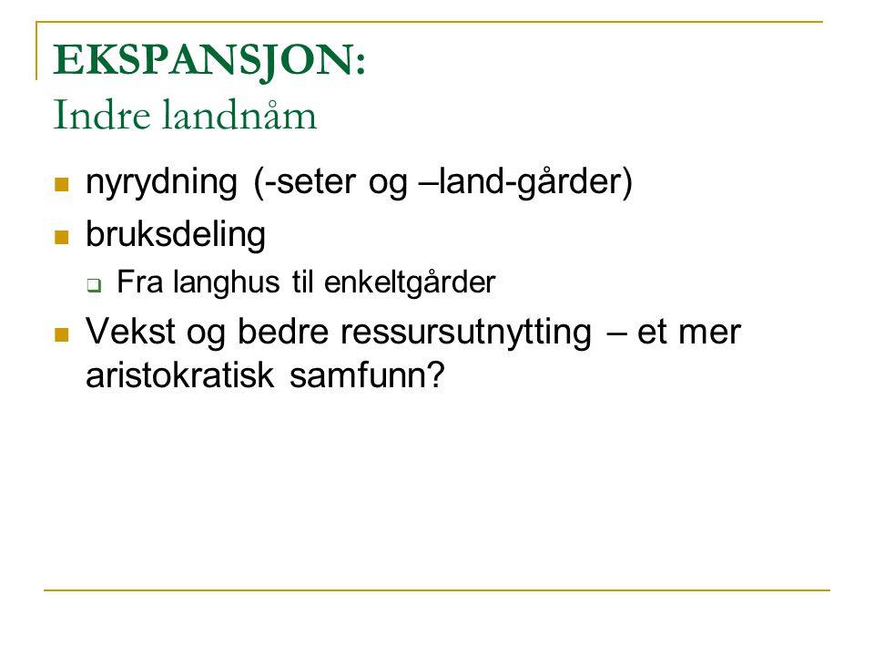 EKSPANSJON: Ytre landnåm vikingraid (ca.790 – ) bosetninger (ca.