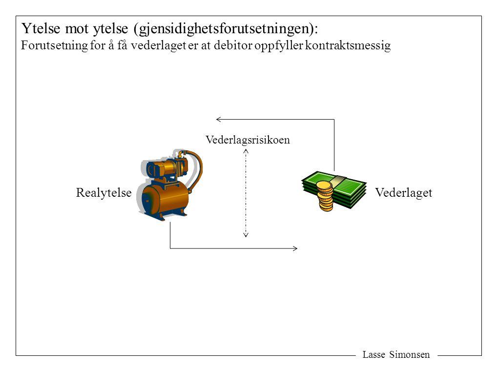 Lasse Simonsen Ytelse mot ytelse (gjensidighetsforutsetningen): Forutsetning for å få vederlaget er at debitor oppfyller kontraktsmessig VederlagetRea