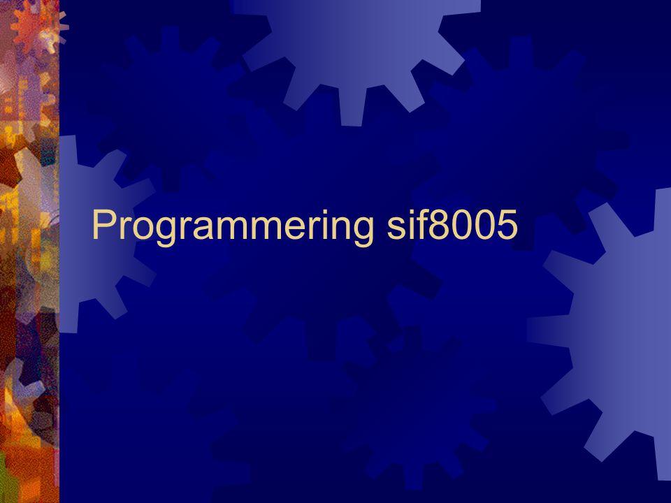 Programmering sif8005