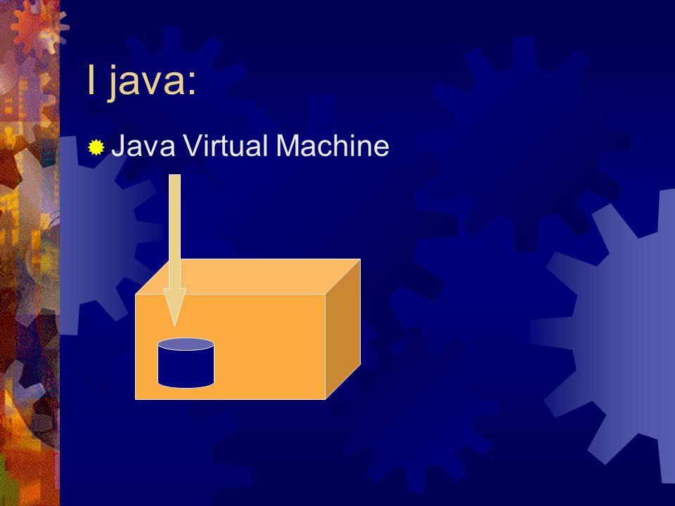 I java:  Java Virtual Machine