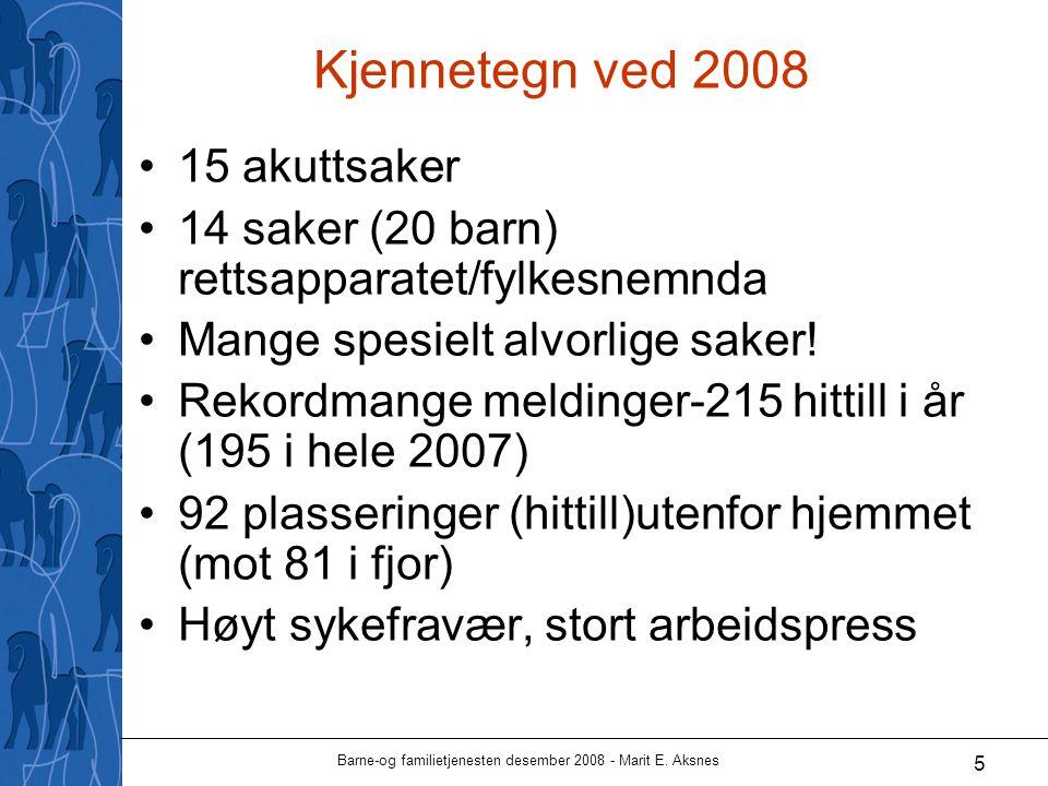 Barne-og familietjenesten desember 2008 - Marit E. Aksnes 6 Barnevern-del av BaFa