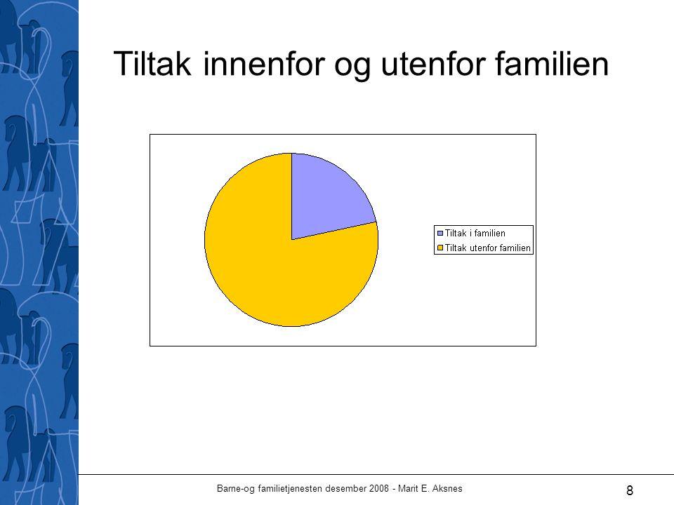 Barne-og familietjenesten desember 2008 - Marit E. Aksnes 8 Tiltak innenfor og utenfor familien