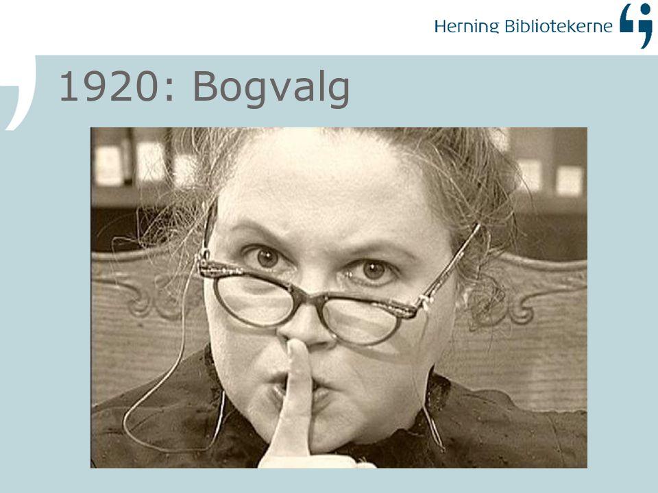 1920: Bogvalg