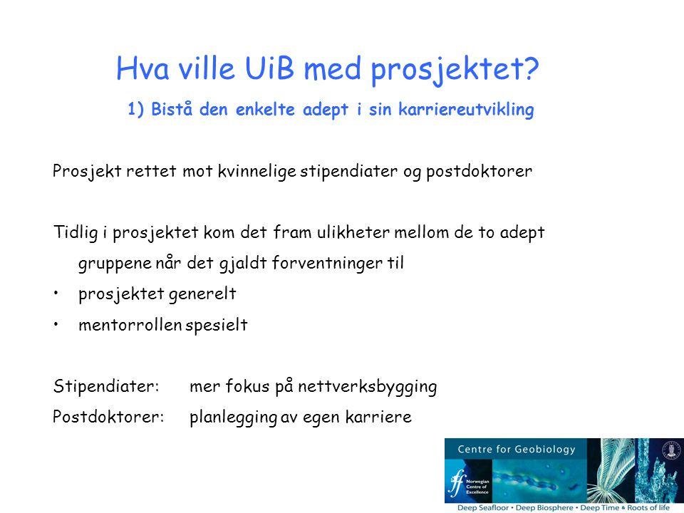 Hva ville UiB med prosjektet.