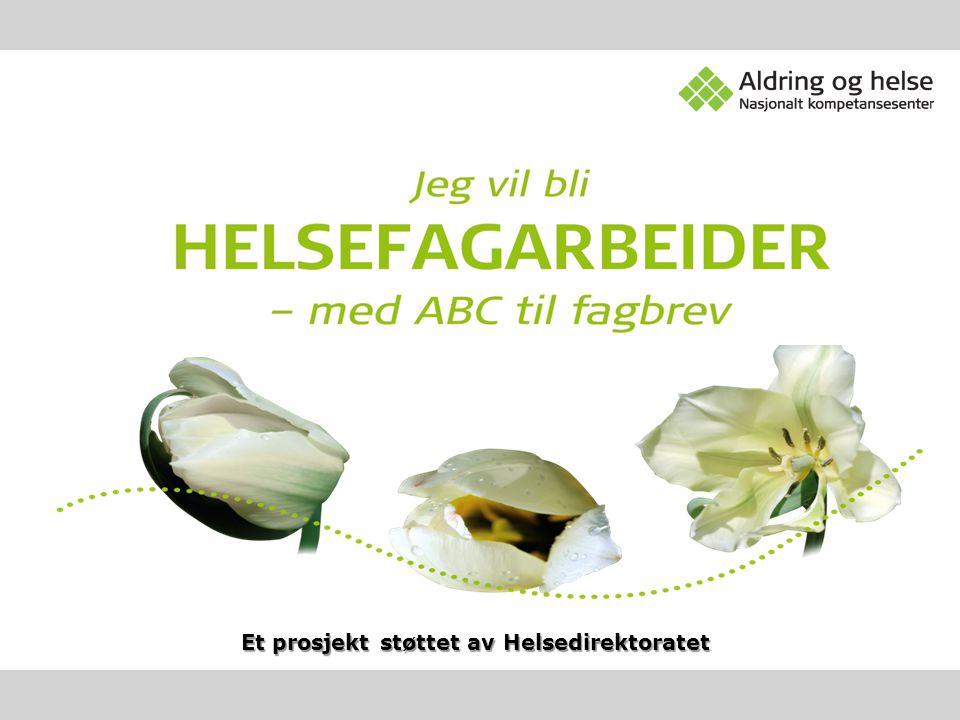 Prosjektledelse Marta Reggestad, prosjektleder ved Nasjonalt kompetansesenter for aldring og helse.